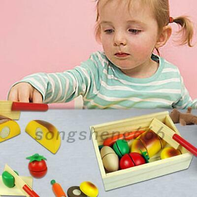 UK Children Wooden Play Food Chopping Toy Set Melissa And Doug Cutting Fruit Toy • 3.55£