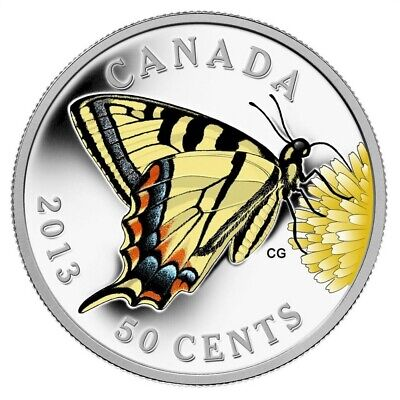$40.01 • Buy Butterflies Of Canada: Tiger Swallowtail - 2013 50 Cent Silver Plated Coin