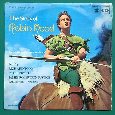 Clifton Parker ROBIN HOOD Film Soundtrack OST LP Disney Richard Todd Peter Finch • 30£