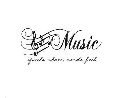Music Notes Music Speaks Where Words Fail Wall Quotes Wall Stickers UK 94 • 4.30£