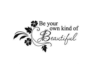 Be Your Own Kind Of Beautiful Wall Quotes Wall Stickers Wall Art  UK 88 • 4.30£
