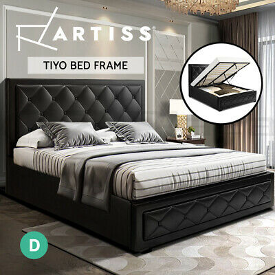 AU299.95 • Buy Artiss Bed Frame Double Full Size Gas Lift Base With Storage  Leather
