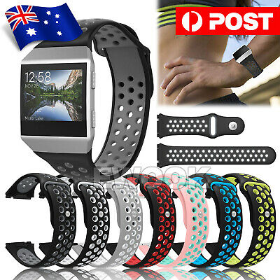 AU11.85 • Buy For Fitbit Ionic Strap Silicone Sports Watch Replacement Band Large OZ