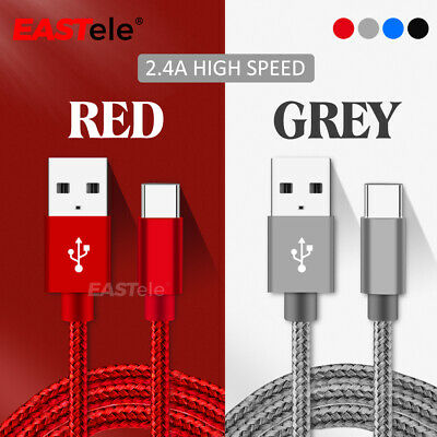 AU5.99 • Buy 2x Fast Charging USB Type C Cable For Samsung Galaxy S10 Plus NOTE 10 A50 A70