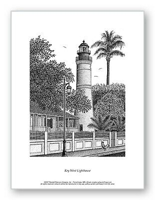 $26 • Buy Key West Lighthouse - Limited Edition Print