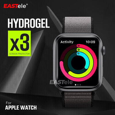AU7.95 • Buy 3x For Apple Watch 5 4 44&40mm Series 5 4 10D HYDROGEL Full Screen Protector