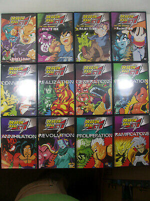 $ CDN39.42 • Buy Lot Of 12 Dragon Ball GT + Lost Episodes + Hero's Legacy Movie Anime DVDs