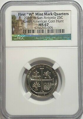 $ CDN78.60 • Buy 2019 W Ngc Ms67 Texas San Antonio Missions Quarter Great American Coin Hunt