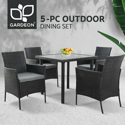 AU465.45 • Buy Gardeon Outdoor Dining Set Table And Chairs Patio Furniture Wicker Rattan Garden