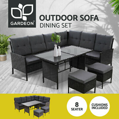 AU829.95 • Buy Outdoor Sofa Set Patio Furniture Dining Chair Table Lounge Setting Garden Wicker
