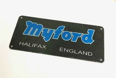 New Myford Nameplate For Series 7 Machine Stand - Direct From Myford Ltd • 16.50£