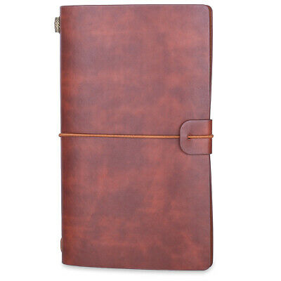 £4.99 • Buy Journal Notebook Refillable Notepad Diary Vintage PU Leather Travel Black Brown