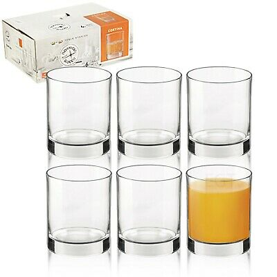 Bormioli Rocco Cortina 255ml Short Dinner Tumblers Drinking Glasses Set Casual • 7.99£