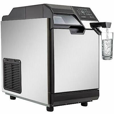 2 In 1 Commercial Ice Maker Ice Making Machine W/ Water Dispenser 78LBS In 24Hrs • 328.84$