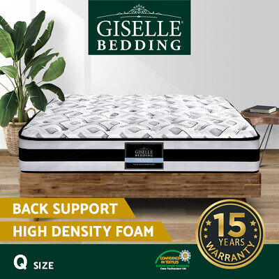 AU239.90 • Buy Giselle QUEEN Super Firm Mattress Bed Size Pocket Spring Plush Foam 24CM