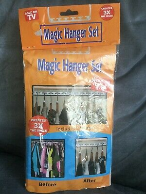 $9.95 • Buy Sold On Tv Products Magic Hanger Set Creates 3x The Space - Open Package
