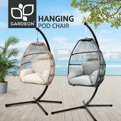 AU299.95 • Buy Gardeon Outdoor Furniture Swing Chair Lounge Egg Hammock Stand Pod Wicker Seat
