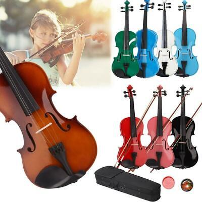 $34.17 • Buy Student 4/4 Size Basswood Acoustic Violin Fiddle With Case Bow Rosin Colorful