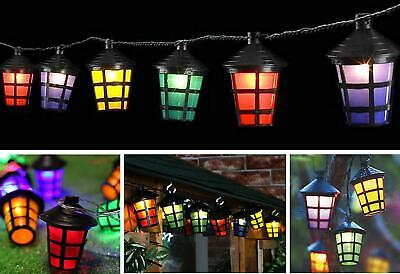 40 LED Outdoor Coloured Xmas Festive Party Lanterns String Fairy Lights Decor • 12.95£