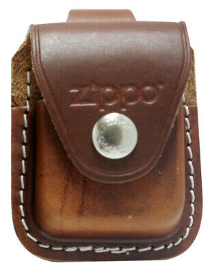 $6.99 • Buy Zippo Lighter Pouch LPLB Genuine Brown Leather NEW