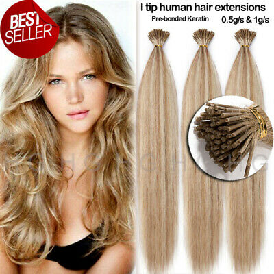 $24.70 • Buy CLEARANCE I Tip Stick Pre-bonded Keratin Glossy 7A Human Remy Hair Extensions US