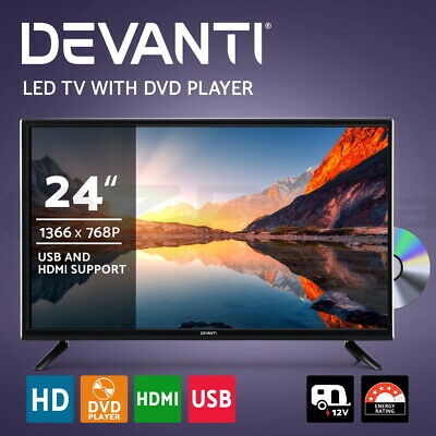AU169.95 • Buy Devanti 24  LED TV Digital Built-In DVD Player DC 12V Caravan Boat USB 24 Inch