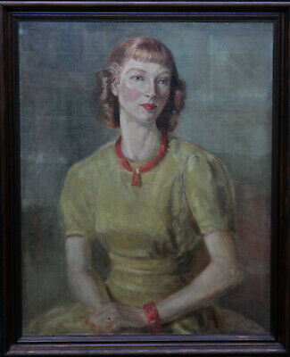 $ CDN8114.01 • Buy Hedwig Esther Pillitz British Art 1917 Portrait Oil Painting Rosalind Greenwood