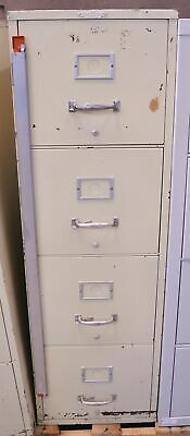 Remington Rand Fire Safe Letter Filing Cabinet 4 Drawer 17x31x55  FireProof • 179.19$