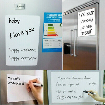A5 Reminder Fridge Magnetic Whiteboard Family Message Board Office Memo Plain • 3.45£