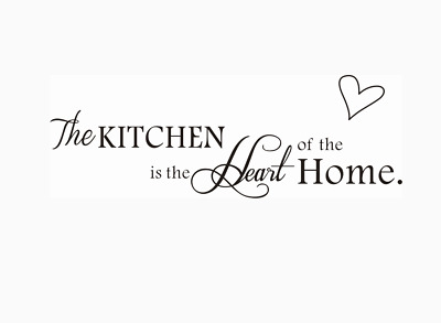 The Kitchen Is The Heart Of The Home Wall Stickers Wall Quotes Wall Art UK 32u • 4.30£