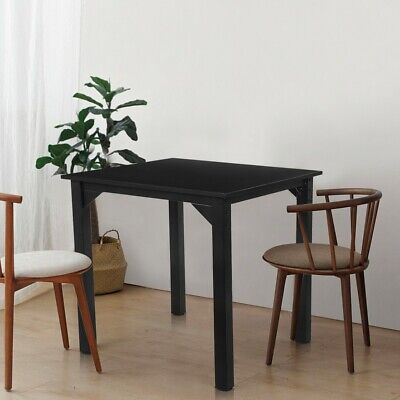 Dining Table Desk Square Writing Table Wood Metal Kitchen Room Breakfast Balck • 49.99$