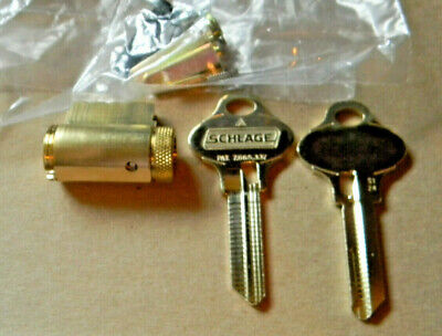 $49.99 • Buy Schlage Everest 29 Knob And Lever Cylinder Kit- Brass- New S123,S124 &S145