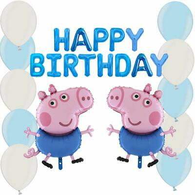 George Pig Balloon Pack - Boys Party Decorations (GEORGEBALLOONPACK+LATEX) • 16.99£