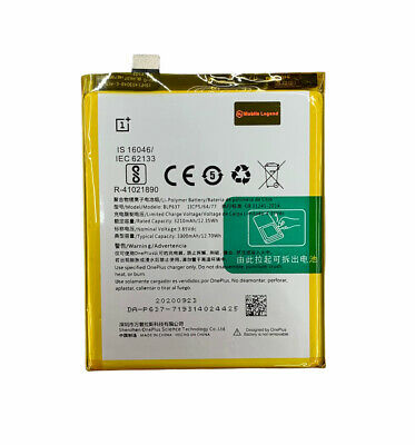 AU34.99 • Buy For OnePlus 5 / 5T Battery Replacement 3300mAh  (Model No : BLP637)