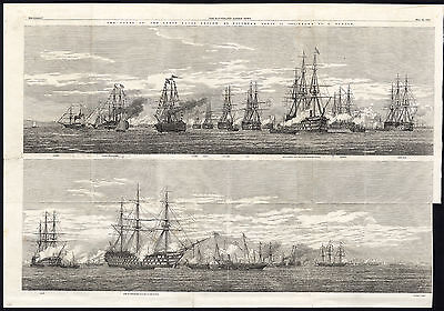 Antique Print-NAVY-WARSHIP-NAVAL REVIEW-SPITHEAD-FLEET-PORTSMOUTH-Duncan-1856 • 97.50£