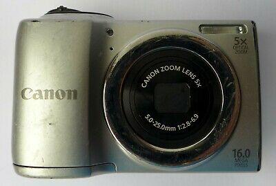 Canon PowerShot A810 16.0MP Digital Camera Silver,FAULTY For Spares Parts Repair • 9.95£