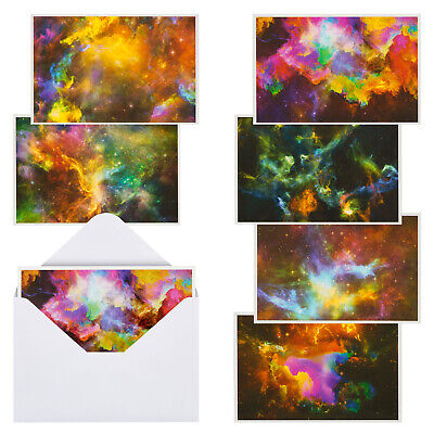 $10.99 • Buy 48 Pack All Occasion Greeting Cards Blank Inside W/Envelope Cosmic Designs 4 X6