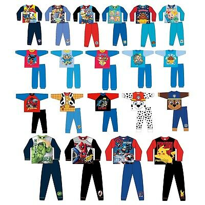 £6.89 • Buy Boys Character Pyjamas PJs Size 6 Months To 12 Years Officially Licensed Kids PJ