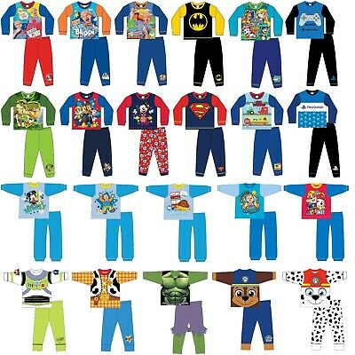 Boys Character Pyjamas PJs Size 6 Months To 12 Years Officially Licensed Kids • 9.99£