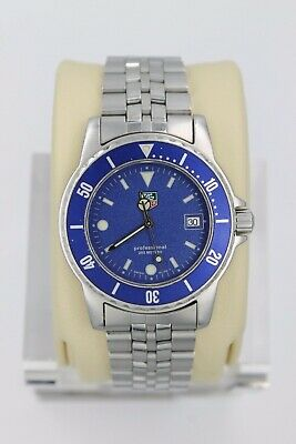 Tag Heuer WD1214.BA0610 Blue 1500 Professional SS Watch Mens Mint Crystal Sport • 445$