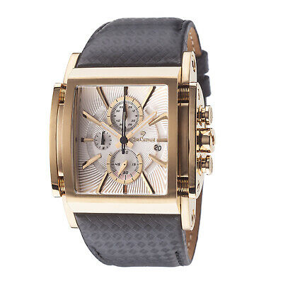 Yves Camani Escaut Mens Wrist Watch Gold Plated Chronograph Leather Strap New • 179£