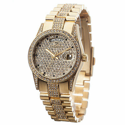 YVES CAMANI Tiberius Ladies Watch Stainless Steel Gold Plated Zirconia Crystals • 79£