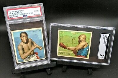 $249.99 • Buy JACK JOHNSON Lot 1910 Mecca Boxing Cards T218 Champions Side View Front Face PSA