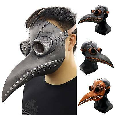 Steampunk Bird Masker Plague Doctor Horror Mask Carnival Cosplay Party Costume • 17.09£