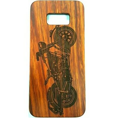 AU11.46 • Buy Motorcycle Design Wood Case For Samsung S8 Plus
