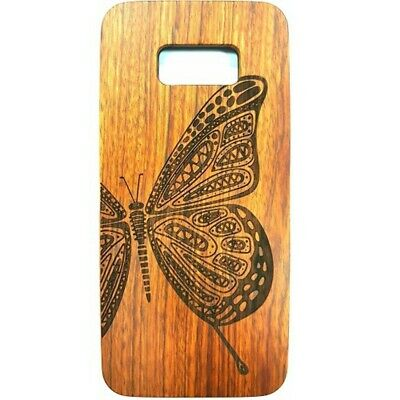 AU11.46 • Buy Butterfly Design Wood Case For Samsung S8 Plus
