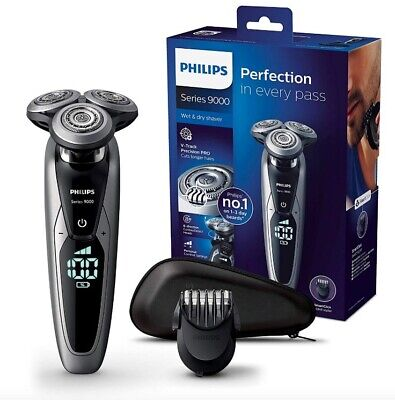 AU394.58 • Buy PHILIPS S9711/41 Series 9000 Mens Wet & Dry Electric Shaver +Beard Styler NEW