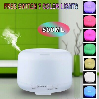 AU21.99 • Buy 500ml Ultrasonic Essential Oil Aroma Diffuser Remote Air Lamp Humidifier Light