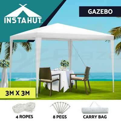 AU56.90 • Buy Instahut Wedding Gazebo Outdoor Marquee Party Tent Event Canopy Camping 3x3 New
