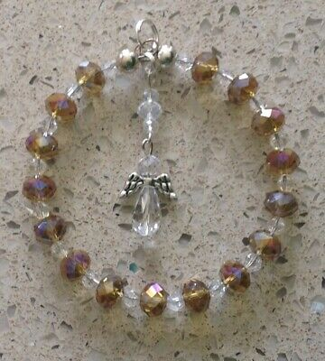 Crystal Sun-catcher Guardian Angel & Halo November Birthstone Mother's Day Gift • 4.99£